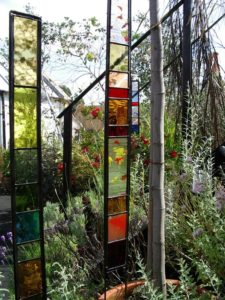 Glass garden panels