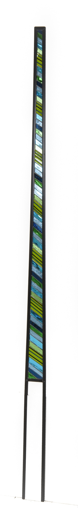 'Blades'  Tapered panels of mirrored fused glass.